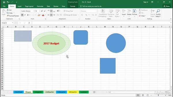Create and manipulate shapes with the Shift, Ctrl, and Alt keys: Excel 2016 Tips and Tricks