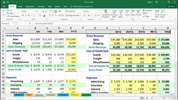 Create linked dynamic and linked static images: Excel 2016 Tips and Tricks