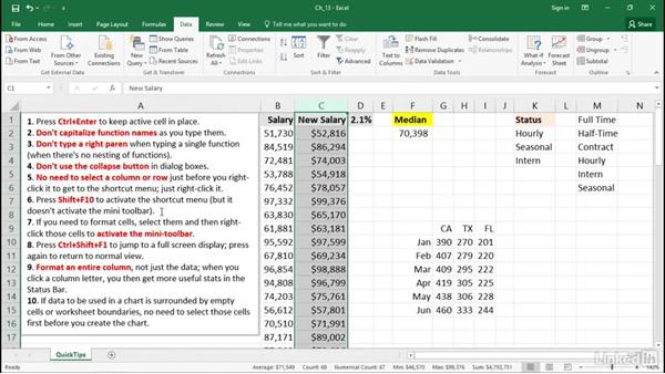 Become a more proficient Excel user with these short tips: Excel 2016 Tips and Tricks