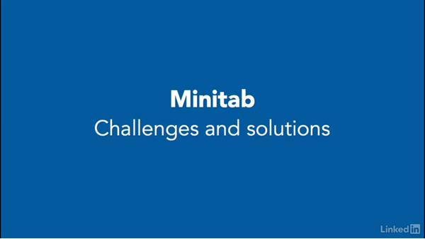 Challenges and solutions: Introduction to Minitab