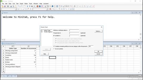 Solution: Display graphs and charts: Introduction to Minitab