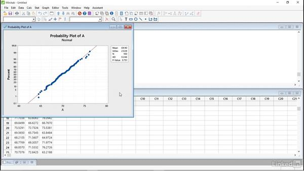 Normality test: Introduction to Minitab