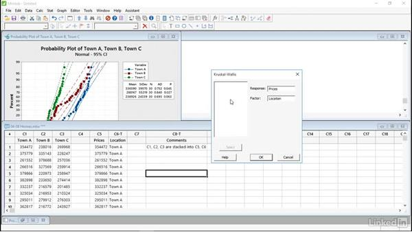 Solution: Compare inferences on continuous data: Introduction to Minitab