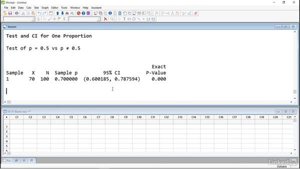 Compare proportions: Introduction to Minitab