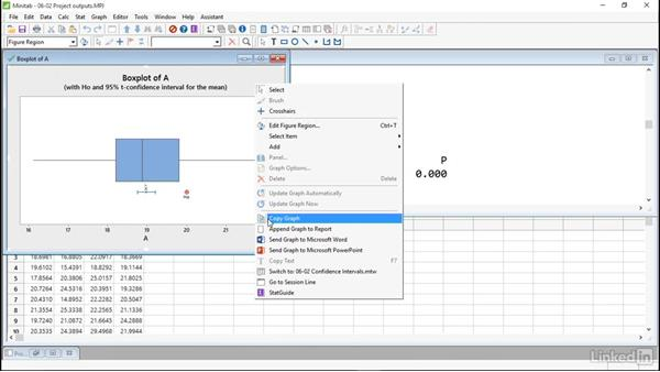 Share outputs: Introduction to Minitab