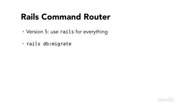 Rails Command router: Ruby on Rails 5 New Features