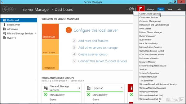 Implement cluster aware updating: Windows Server 2012 R2: Configure and Manage High Availability