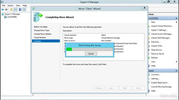 Add a virtual machine in HyperV to a cluster: Windows Server 2012 R2: Configure and Manage High Availability