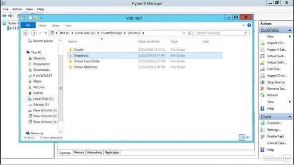 Create a virtual machine checkpoint: Windows Server 2012 R2: Configure and Manage High Availability
