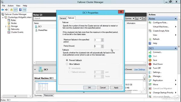 Configure failover and preference settings: Windows Server 2012 R2: Configure and Manage High Availability