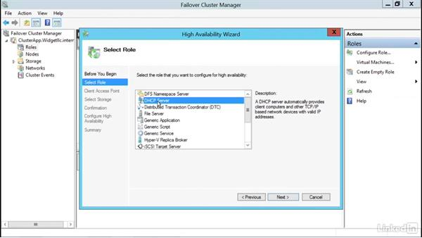 Cluster the DHCP server: Windows Server 2012 R2: Configure and Manage High Availability