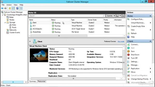 Add the Hyper-V role: Windows Server 2012 R2: Configure and Manage High Availability