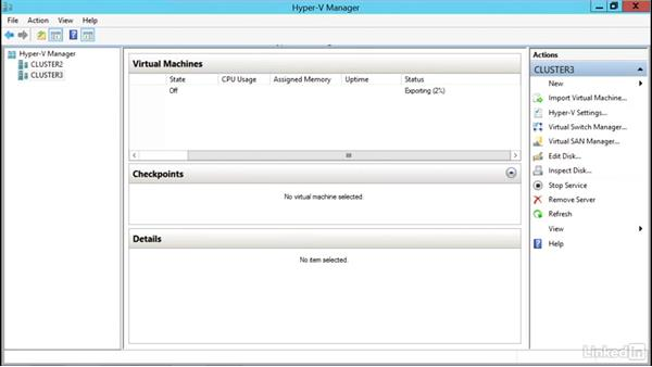 Import, export, and copy a VM in Cluster Manager: Windows Server 2012 R2: Configure and Manage High Availability
