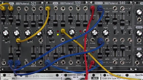 Low-frequency oscillator (LFO) waveshapes: Learning Modular Synthesis