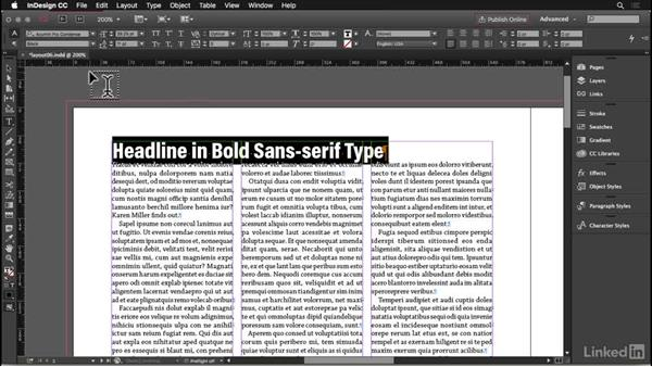 Headlines: InDesign: Elements of a Layout