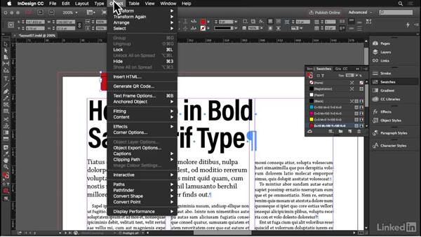 Straplines and kickers: InDesign: Elements of a Layout