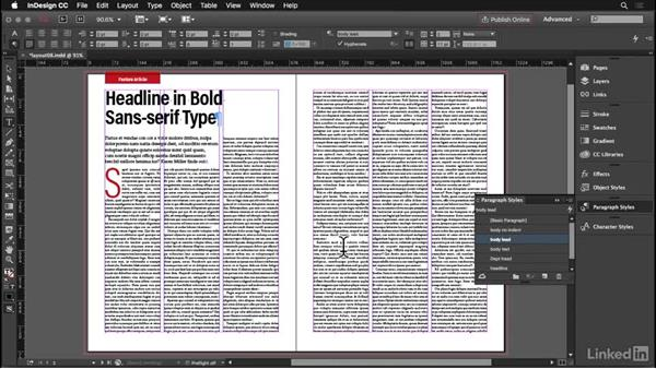 Drop caps: InDesign: Elements of a Layout