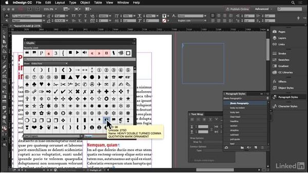 Pull quotes: InDesign: Elements of a Layout
