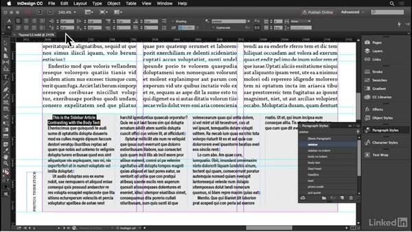 Sidebars and callouts: InDesign: Elements of a Layout