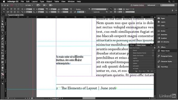 Captions: InDesign: Elements of a Layout