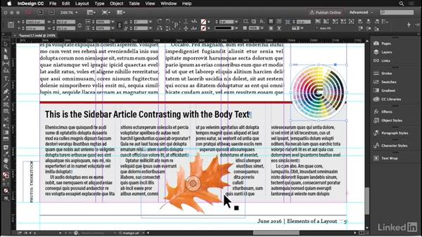 Text wrap: InDesign: Elements of a Layout