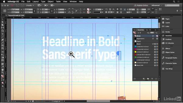 Text on picture: InDesign: Elements of a Layout