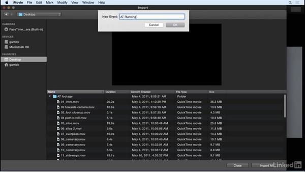 Import video files: iMovie 10.1.1 Essential Training