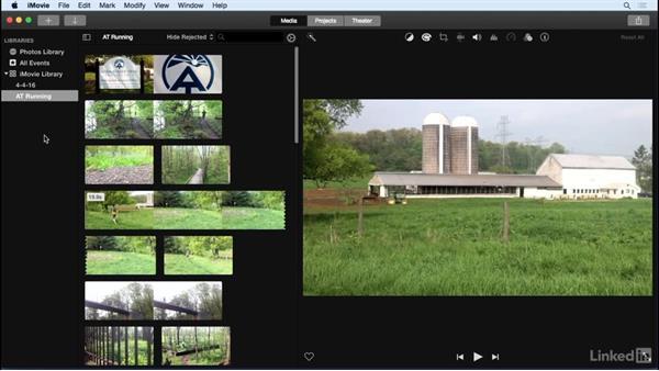 Capture live action: iMovie 10.1.1 Essential Training