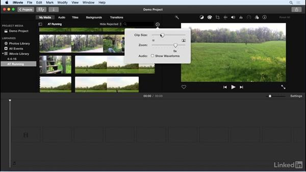 Browse events in the iMovie library: iMovie 10.1.1 Essential Training