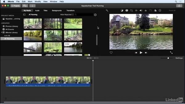 Organize events: iMovie 10.1.1 Essential Training