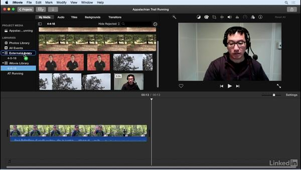 Move events to a different hard drive: iMovie 10.1.1 Essential Training