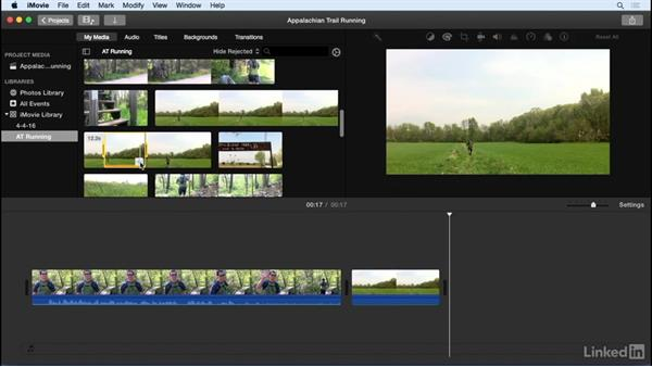Add clips to the project: iMovie 10.1.1 Essential Training