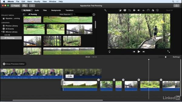 Fine-tune clips: iMovie 10.1.1 Essential Training