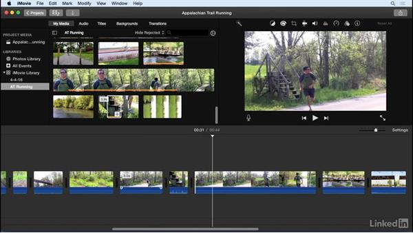Split, insert, and connect clips: iMovie 10.1.1 Essential Training