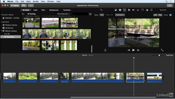 Crop and rotate clips: iMovie 10.1.1 Essential Training