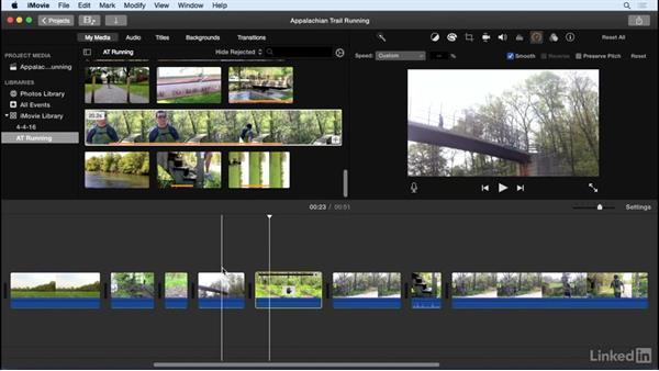 Create and adjust still clips: iMovie 10.1.1 Essential Training