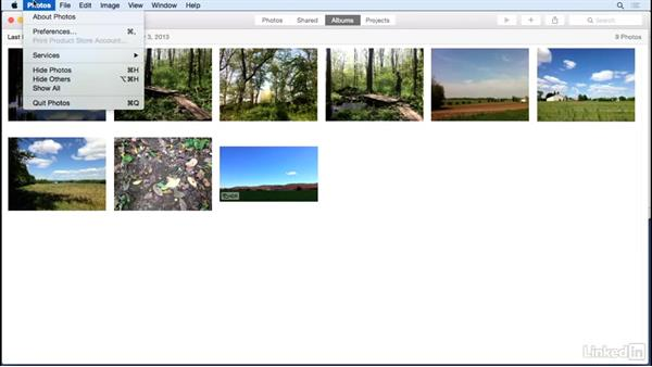 Incorporate photos: iMovie 10.1.1 Essential Training