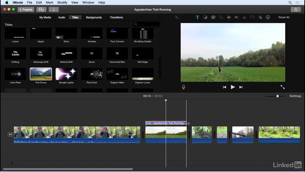 Add titles: iMovie 10.1.1 Essential Training