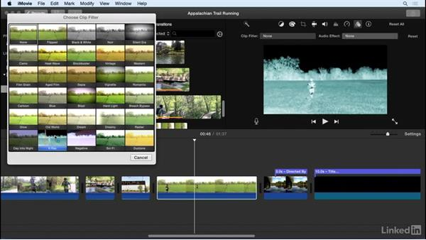 Apply video effects: iMovie 10.1.1 Essential Training