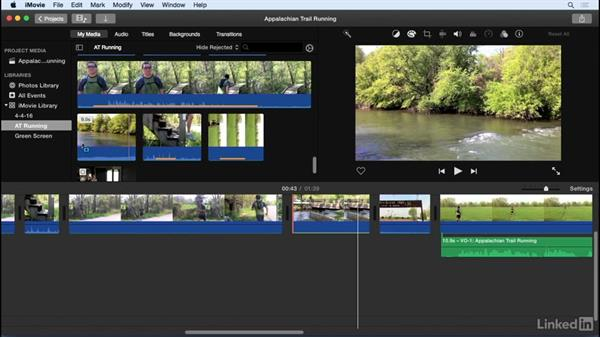 Extract audio from clips: iMovie 10.1.1 Essential Training