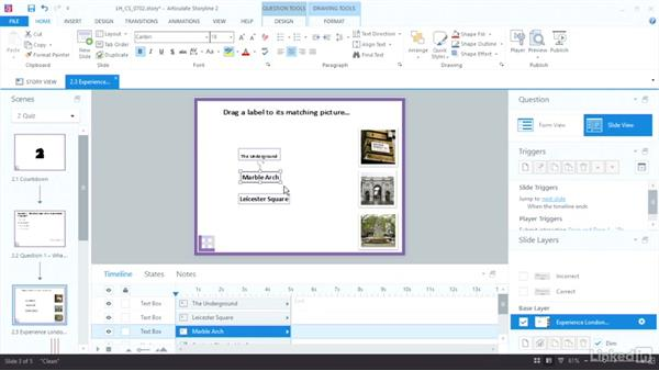 Build drag-and-drop questions: Articulate Storyline 2 Advanced Techniques
