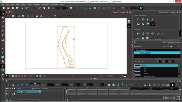 Drawing the extremes and testing poses: Traditional 2D Animation in Harmony