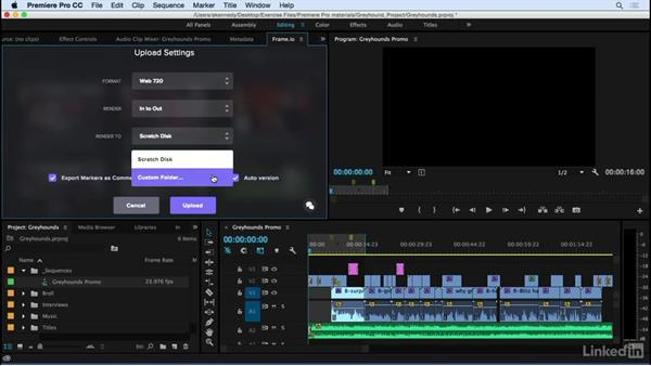 Uploading from Premiere Pro to Frame.io: Frame.io Video Collaboration and Review