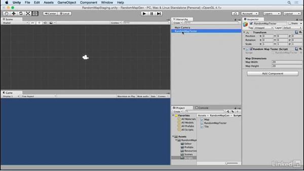 Create the map tester class: Unity 5 2D: Random Map Generation