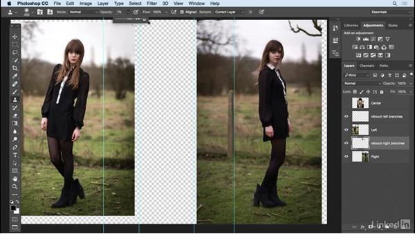 Extend the background detail: Photoshop: Create a Portrait Collage