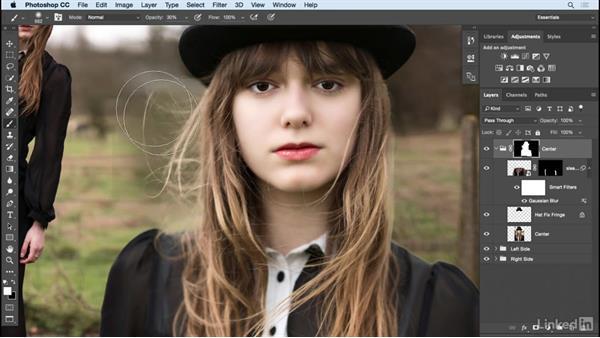 Refine the mask: Photoshop: Create a Portrait Collage