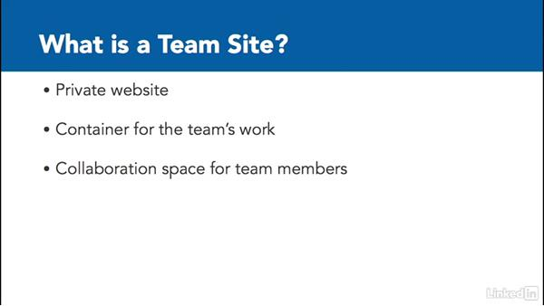 Team sites: The basics: SharePoint Online Essential Training