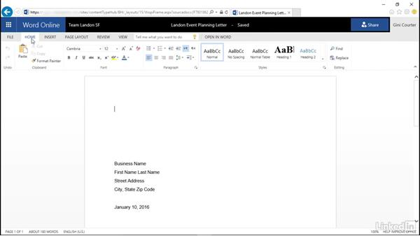 Open and edit an Office document: SharePoint Online Essential Training