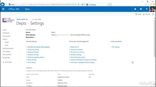 Create a custom list: SharePoint Online Essential Training