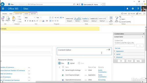 Add a Web Part: SharePoint Online Essential Training